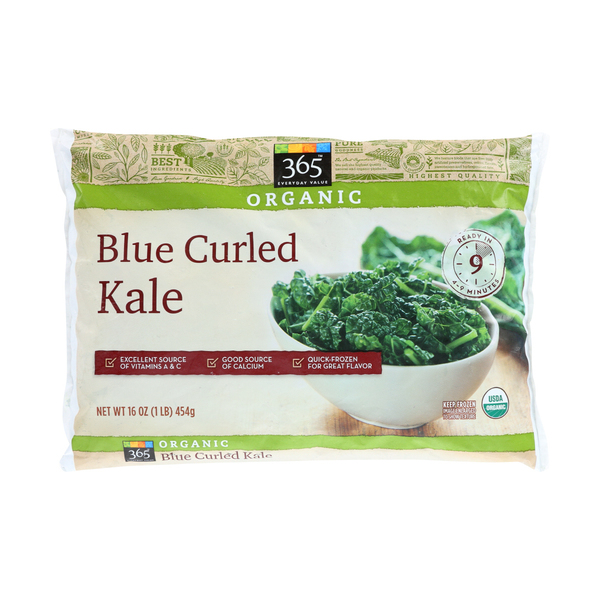 365 everyday value® Organic Blue Curled Frozen Kale, 16 oz
