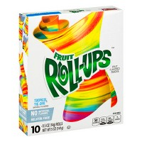 Betty Crocker Fruit Roll-Ups Tropical Tie-Dye Snacks - 10ct