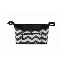 Skidaddle by Skip Hop Stroller Organizer Black & White Chevron