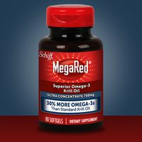 Schiff Mega Red Omega-3 Krill Oil Ultra Concentrate 750 mg Softgels, 80 ct