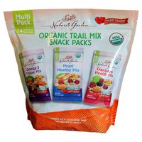 Nature's Garden Organic Trail Mix Snack Packs, 24 x 1.2 oz