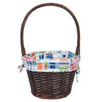 Way To Celebrate Easter Large Plaid Willow Easter Basket
