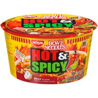 Bowl Noodles Hot & Spicy Fiery Beef Flavor Nissin Hot & Spicy Fiery Beef Flavor Ramen Noodle Soup