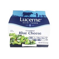 Lucerne Crumbled Cheese, Blue