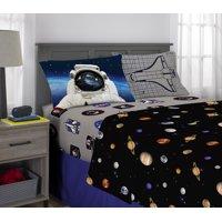 NASA Bed Sheets Set, Kids Bedding, Space Time Rocket