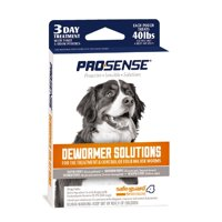 Pro-Sense Dewormer Solutions For Dogs 3-Day Treatment, 4 Gram Pouches, Safe-Guard 4