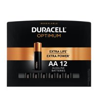 Duracell Optimum 1.5V Alkaline AA Batteries, Convenient, Resealable Package, 12 Pack