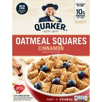 Oatmeal Squares Cinnamon Breakfast Cereal - 14.5oz - Quaker Oats