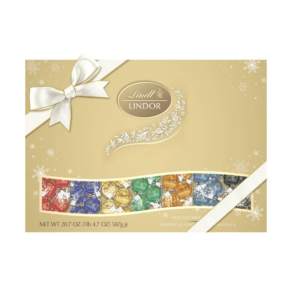 Lindt Holiday Deluxe Assorted Chocolate Gift Box - 20.7oz