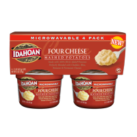 Idahoan Four Cheese Mashed Cup, 1.5 oz (Pack of 4)