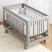 BreathableBaby® Classic Breathable® Mesh Crib Liner- Starlight White & Grey