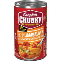 Campbell's Chunky Soup,Jazzy Jambalaya with Chicken, Sausage & Ham Soup, 18.6 Ounce Can