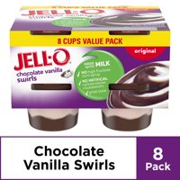 Jell-O Ready to Eat Chocolate Vanilla Swirls Pudding Cups, 8 ct - 31.0 oz Package
