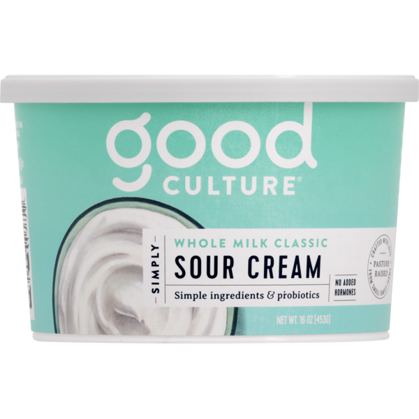 Good Culture Sour Cream, Simply, Whole Milk Classic, Cup/Tub