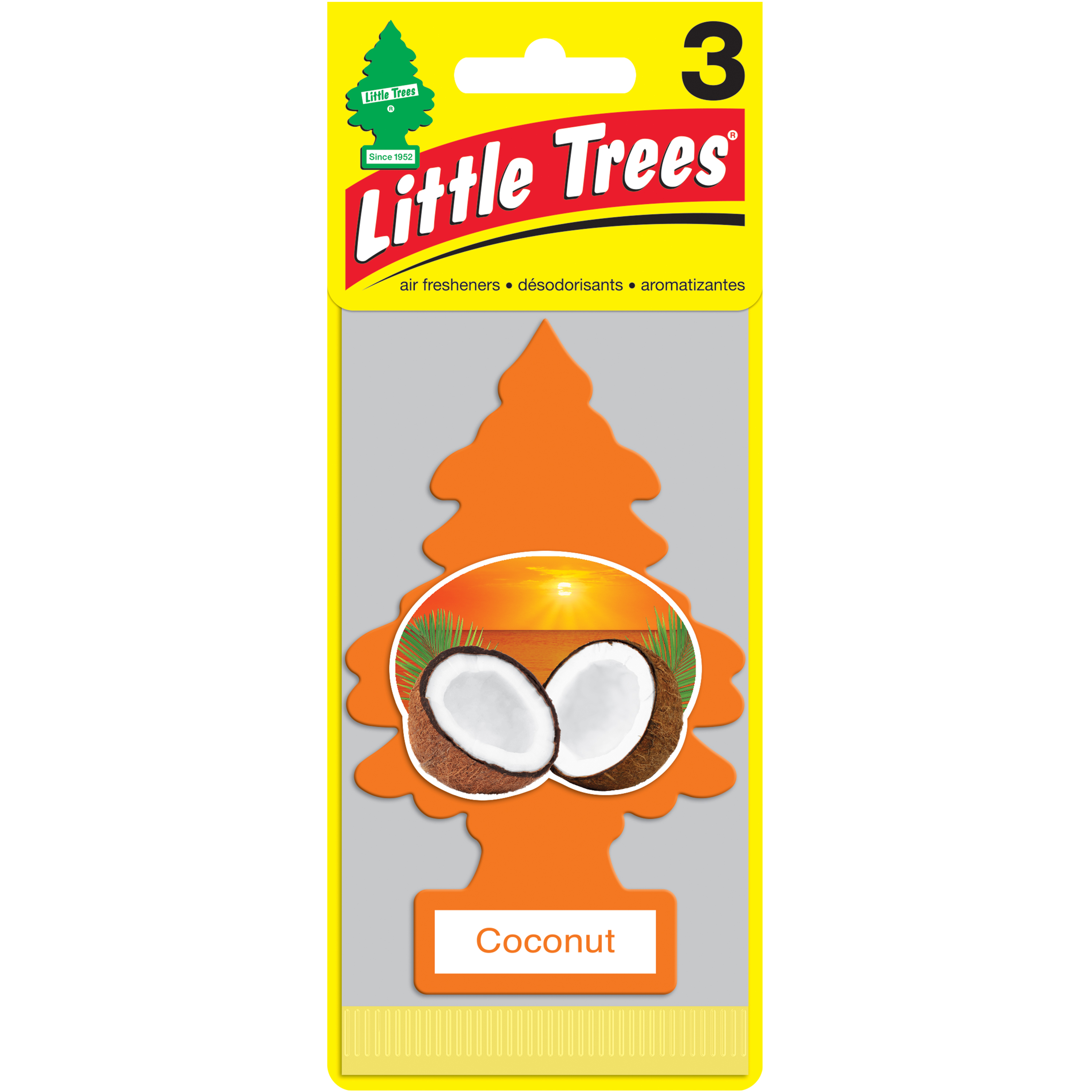 Little Trees Air Freshener Coconut Fragrance 3-Pack