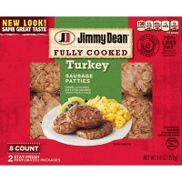 Jimmy Dean Fully Cooked Turkey Sausage Patties - 8ct/9.6oz