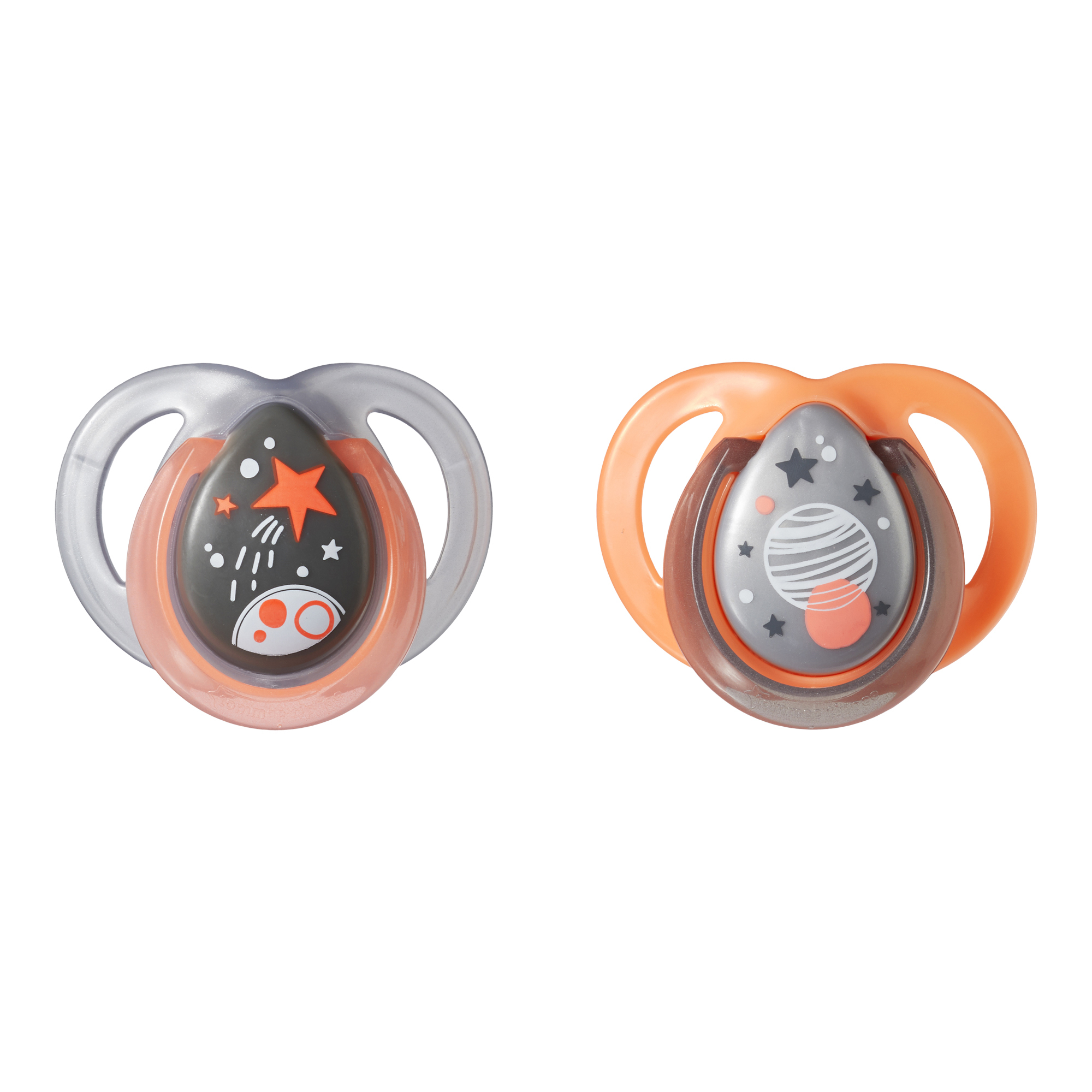 Tommee Tippee Closer to Nature Night Pacifiers, 0-6 months - 2 count (Colors May Vary)