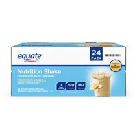 Equate Vanilla Nutrition Shake for People with Diabetes 24 Ct, 8 Fl oz