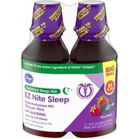 Kroger Nighttime Sleep-aid Ez Nite Sleep Diphenhydramine Hcl 50mg Per 30ml 10% Alcohol Helps You Fall Asleep, Berry