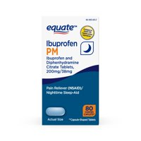 Equate Ibuprofen and Diphenhydramine CitrateTablets, 200 mg/38 mg , 80 Count