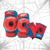 Bell Marvel Spider-Man Protective Pad and Glove Set, Red/Blue