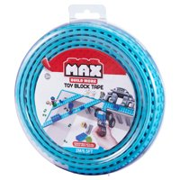 MAX Build More Toy Block Tape, 3.3Ft/1m 2-stud, Major Brick Brands Compatible