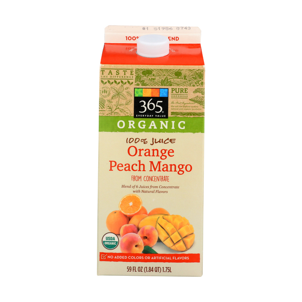 365 everyday value® Organic Orange Peach Mango Juice, 59 FL OZ