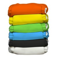 Charlie Banana Reusable One-Size Diaper 6pk - Solid Colors