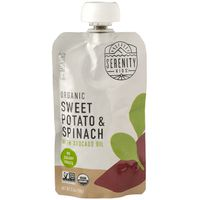 Serenity Kids Baby Food, Organic, Sweet Potato & Spinach