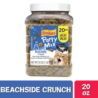 Friskies Cat Treats, Party Mix Beachside Crunch, 20 oz. Canister
