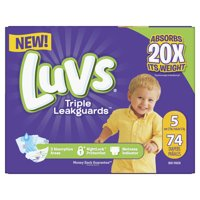 Luvs Triple Leakguards Diapers Size 5 74 Count