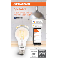 SYLVANIA SMART LED A19 Light Bulb, 40 Watt, Dimmable, Soft White, 1Pk