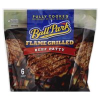 Ball Park Flame Grilled Beef Patty, 6 count, 16.2 oz