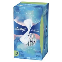 Always Infinity FlexFoam Pads without Wings - Super Absorbency - Unscented - Size 2 - 32ct