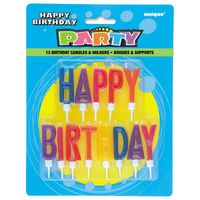 Party Goods Happy Birthday Candle Letters