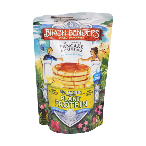 Birch benders griddle cakes Just Add Water Plant Protein Pancake & Waffle Mix, 14 oz