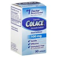 Colace Stool Softener, 100 mg, Capsules