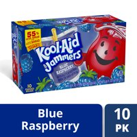 Kool-Aid Jammers Blue Raspberry Ready-To-Drink Soft Drink, 10 ct - Pouches, 60.0 fl oz Box