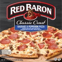 Red Baron Classic Sausage & Pepperoni Frozen Pizza - 21.9oz