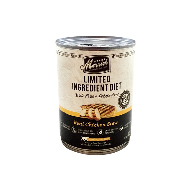 Merrick Limited Ingredient Diet Real Chicken Stew Adult Natural Food For Dogs