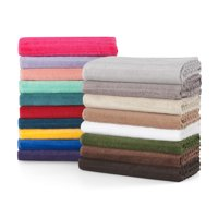 "Mainstays Performance Textured Bath Towel, 54"" x 30"", Soft Silver"