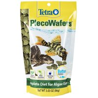 Tetra PlecoWafers 3.03 Ounces, Nutritionally Balanced Fish Food For Algae Eaters