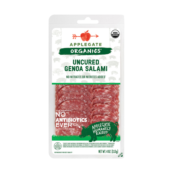 Organic Uncured Genoa Salami, 4 oz