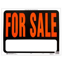 Hy-Ko Jumbo 14.5 x 18.5 inch Plastic For Sale Sign, Large Text Box