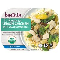 beetnik Organic Lemon Chicken with Cauliflower Rice, 10 oz
