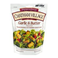 Chatham Village, Croutons, Garlic & Butter Traditional Cut, 5 Oz, Pack Of 12