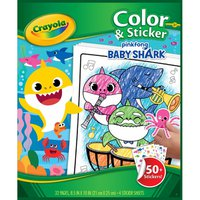 "Crayola 8.5"" x 10"" Pinkfong Baby Shark Color & Sticker Book"