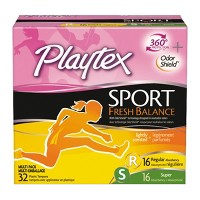 Playtex Sport Fresh Balance Multipack Tampons - Plastic - Scented - Regular/Super - 32ct