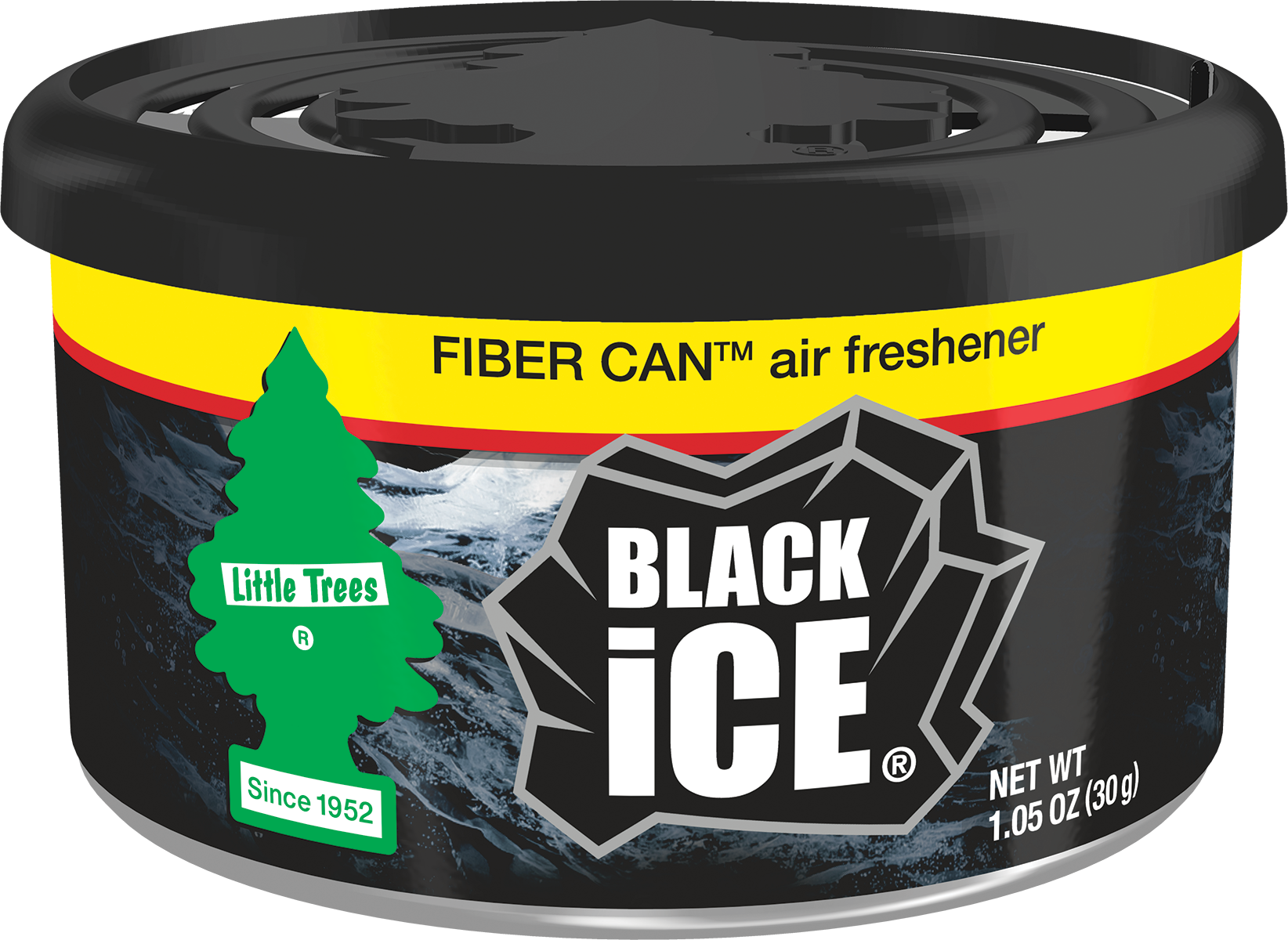 Little Trees Air Freshener Fiber Can Black Ice 1.05oz