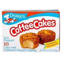 Drake's Coffee Cakes with Cinnamon Streusel Topping 11.5oz